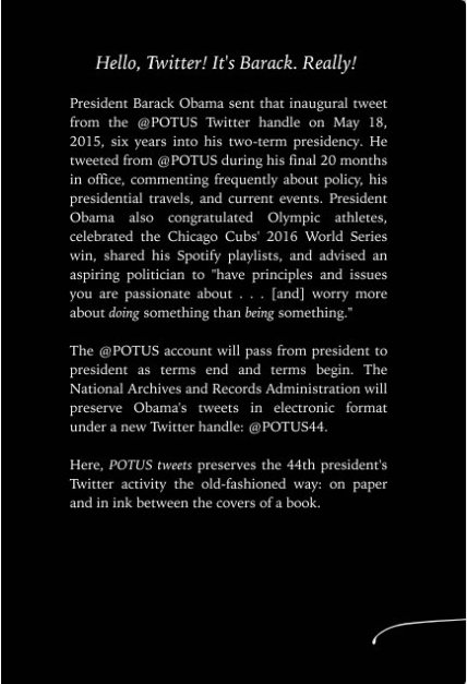 POTUS tweets back cover
